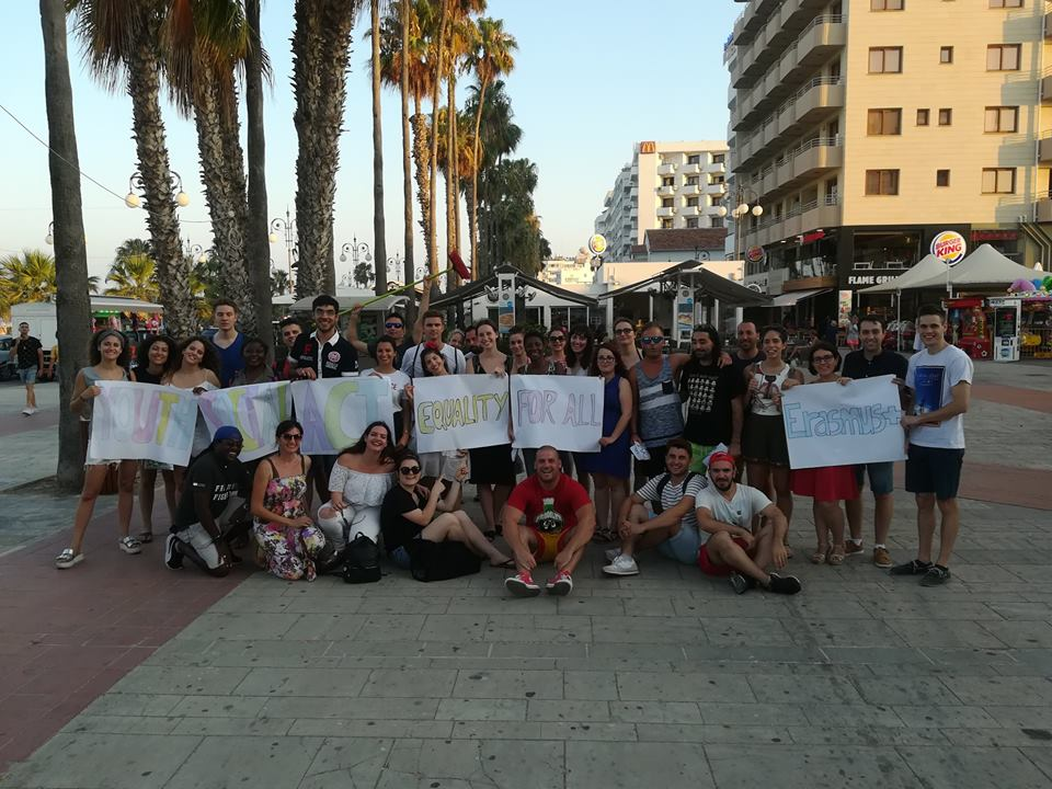 1. Fight only to achieve your dreams not to abuse other peopleYoutSocialAct Erasmus TC in Cyprus flashmob Equality4All
